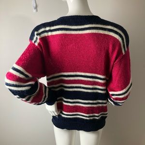 Vintage Sweaters - Vintage 80's Cat theme Pullover Sweater M